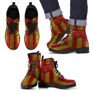 Harry Potter 4 House Men's Leather Boots Design HP0116 - Gryffindor / US5 (EU38) - Ineffable Shop