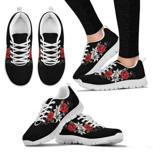 Black Rose Women's Running Shoes - White / US5 (EU35) - Ineffable Shop