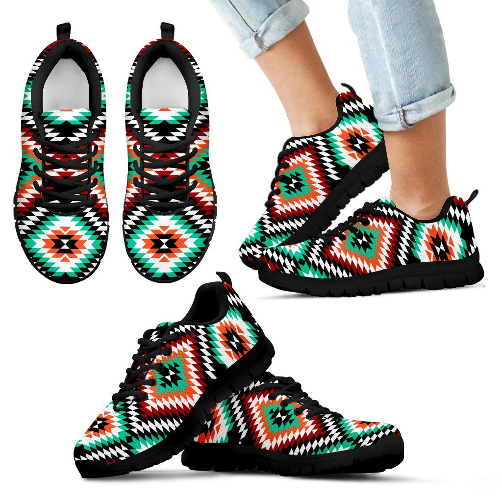 New Native American Indian Kid's Sneaker NT048 - Kid's Sneakers - Black - Native 1 / 11 CHILD (EU28) - Ineffable Shop