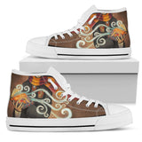 Harry Potter 4 House Women's High Top Shoe HP0124 - Gryffindor - White / US5.5 (EU36) - Ineffable Shop