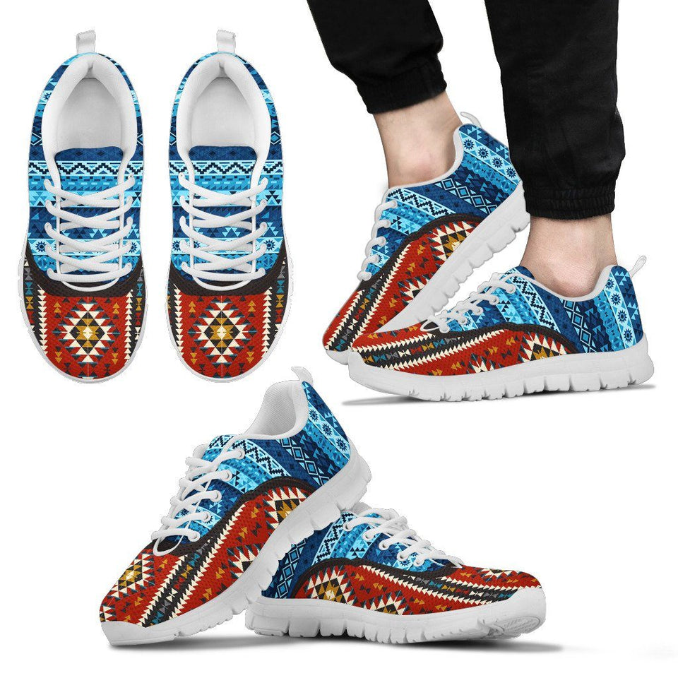 Native American Pattern Men's Costume Shoes NT096 - Men's Sneakers - White - Native American 2 / US5 (EU38) - Ineffable Shop