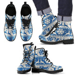 Christmas Pattern Leather Boots - Men's Leather Boots - Black - Christmas 2 / US5 (EU38) - Ineffable Shop