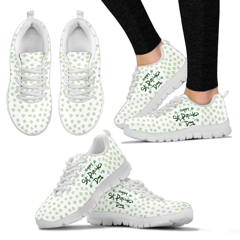 St.Patrick's Day Women's Running Shoes - Women's Sneakers - White - 2 / US5 (EU35) - Ineffable Shop