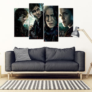 Harry Potter 4 Piece Framed Canvas HP0082 - - Ineffable Shop