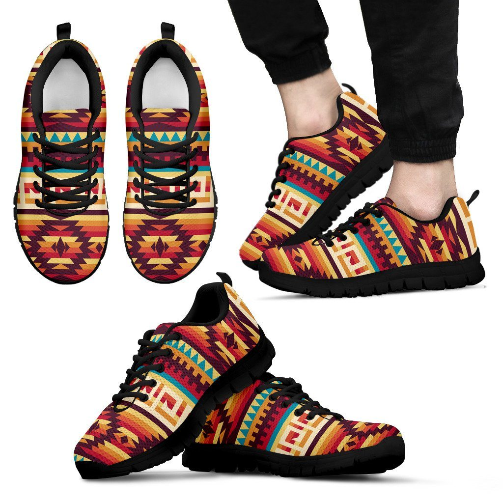Native American Men's Running Shoes NT032 - Men's Sneakers - Black - Native 1 / US5 (EU38) - Ineffable Shop