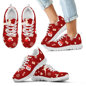 Happy Christmas Kid's Sneakers - Kid's Sneakers - White - Christmas 2 / 11 CHILD (EU28) - Ineffable Shop