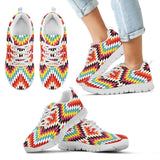 Native American Indian Kid's Sneaker Design NT065 - Kid's Sneakers - White - Native 2 / 11 CHILD (EU28) - Ineffable Shop