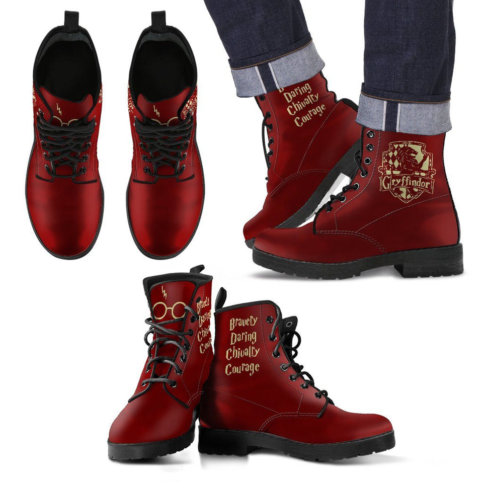 Harry Potter 4 Houses Men's Boots HP0002 - Gryffindor / US5 (EU38) - Ineffable Shop