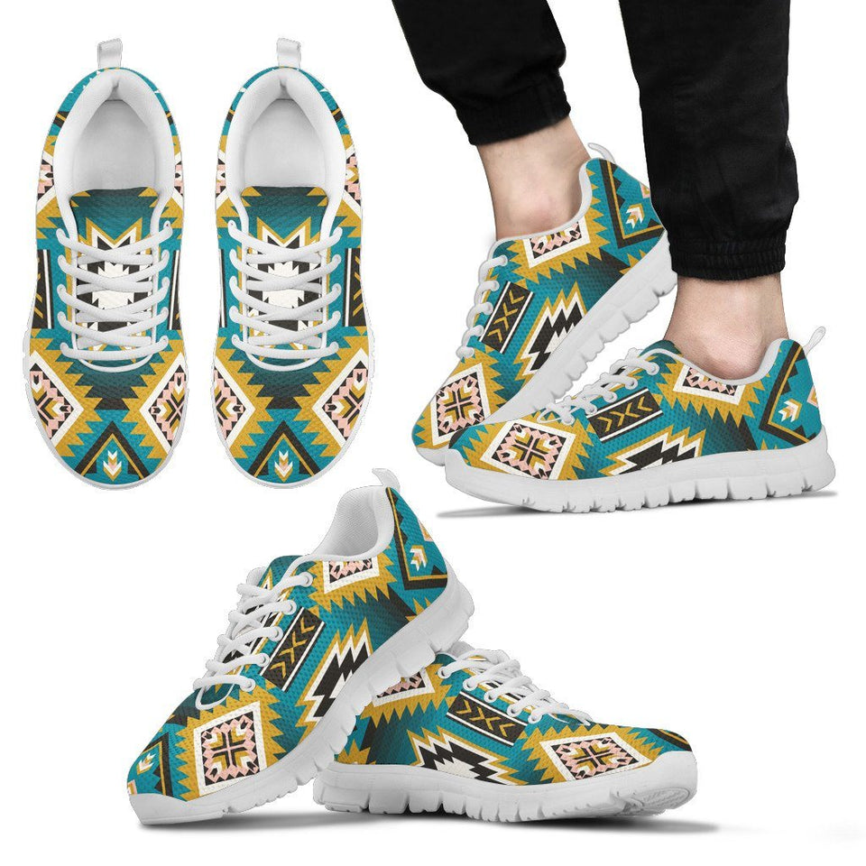 New Naive American Pattern Men's Sneakers NT044 - Men's Sneakers - White - Native 2 / US5 (EU38) - Ineffable Shop