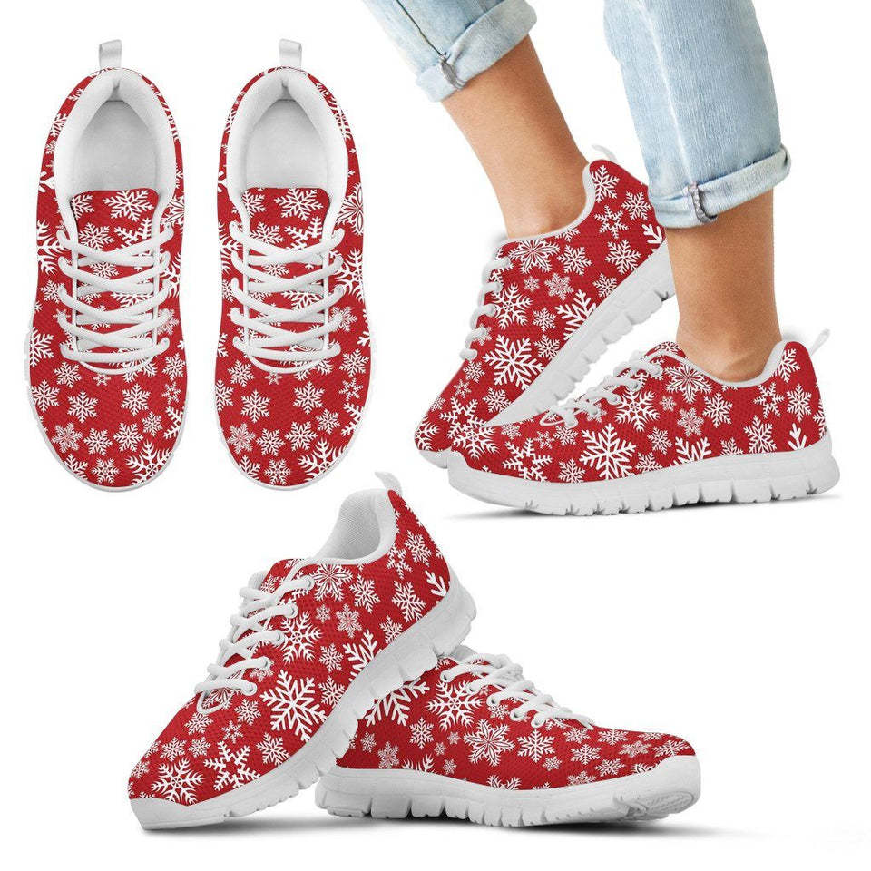 Christmas Red Snow Kid's Running Shoes - Kid's Sneakers - White - Christmas 2 / 11 CHILD (EU28) - Ineffable Shop