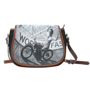 Vintage Motorcycle Saddle Bag - - Ineffable Shop