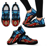 Native American Pattern Women's Costume Shoes NT095 - Women's Sneakers - Black - Native American 1 / US5 (EU35) - Ineffable Shop