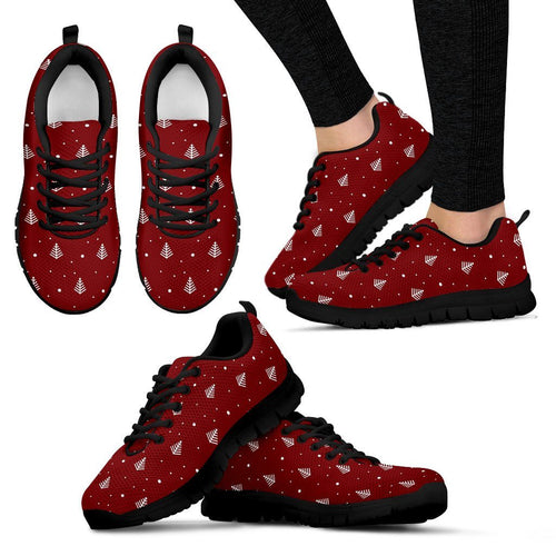Christmas Tree Women's Running Shoes - Women's Sneakers - Black - Christmas 1 / US5 (EU35) - Ineffable Shop