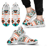 Native American Pattern Men's Running Shoes NT079 - Men's Sneakers - White - Native American 2 / US5 (EU38) - Ineffable Shop