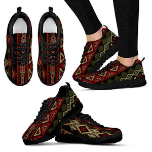 New Native American Indian Women's Costume Shoes NT058 - Women's Sneakers - Black - Native 1 / US5 (EU35) - Ineffable Shop
