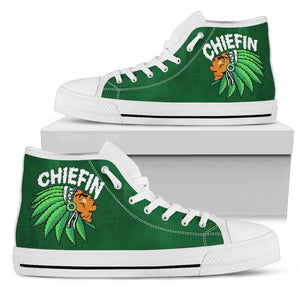 Chiefin Men's High Top Shoe - Green - White Sole / US5 (EU38) - Ineffable Shop