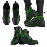 Harry Potter 4 House Women's Leather Boots Design HP0115 - Slytherin / US5 (EU35) - Ineffable Shop
