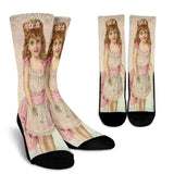 Vintage Girl Crew Socks - - Ineffable Shop