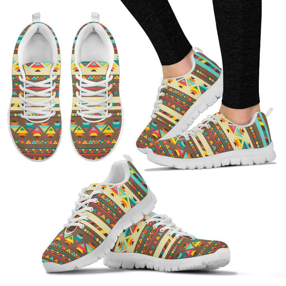 Native American Indian Pattern Women's Shoes NT084 - Women's Sneakers - White - Native American 2 / US5 (EU35) - Ineffable Shop