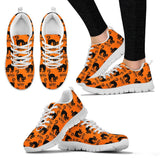 Halloween Black Cat Women's Running Shoes HLW020 - Women's Sneakers - White - Halloween 2 / US5 (EU35) - Ineffable Shop