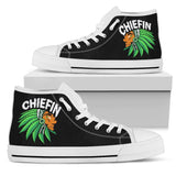 Chiefin Men's High Top Shoe - Black - White Sole / US5 (EU38) - Ineffable Shop