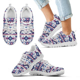 Native American Purple Pattern Kid's Sneakers NT083 - Kid's Sneakers - White - Native American 2 / 11 CHILD (EU28) - Ineffable Shop