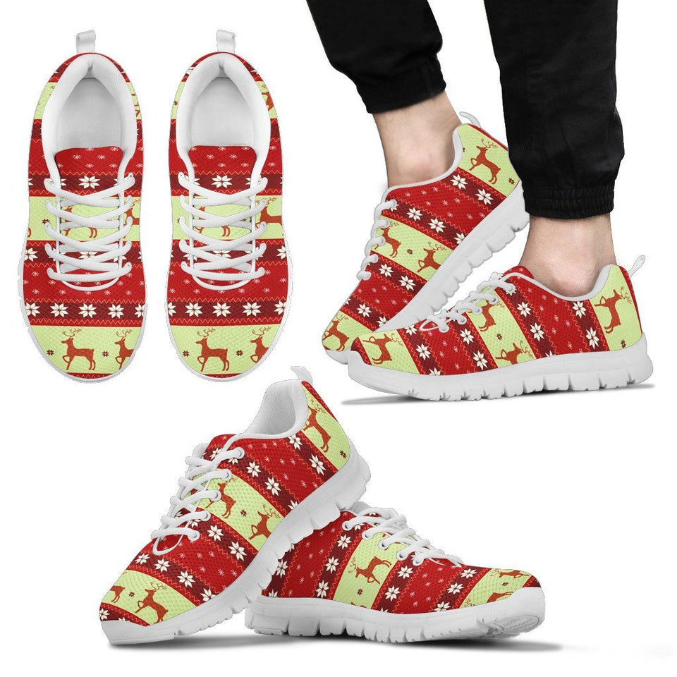 Christmas Pattern Men's Running Shoes - Men's Sneakers - White - Christmas 2 / US5 (EU38) - Ineffable Shop