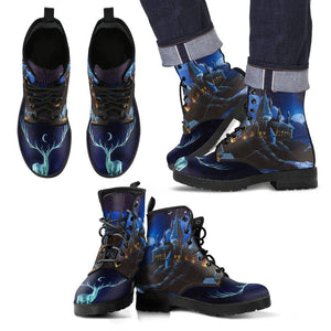Harry Potter Hogwarts School Leather Boots HP0130 - - Ineffable Shop