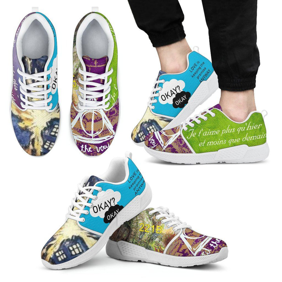 Harry Potter - Doctor Who Men's Athletic Sneakers HP0085 - Men's Athletic Sneakers - White - 2 / US5 (EU38) - Ineffable Shop