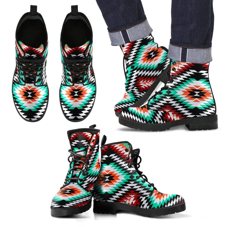 New Design Native American Leather Boots NT010 - Men's Leather Boots - Black - Native 2 / US5 (EU38) - Ineffable Shop
