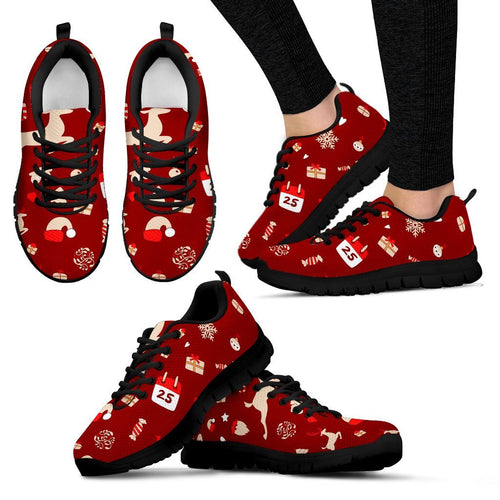 Happy Christmas Women's Sneakers - Women's Sneakers - Black - Christmas 1 / US5 (EU35) - Ineffable Shop