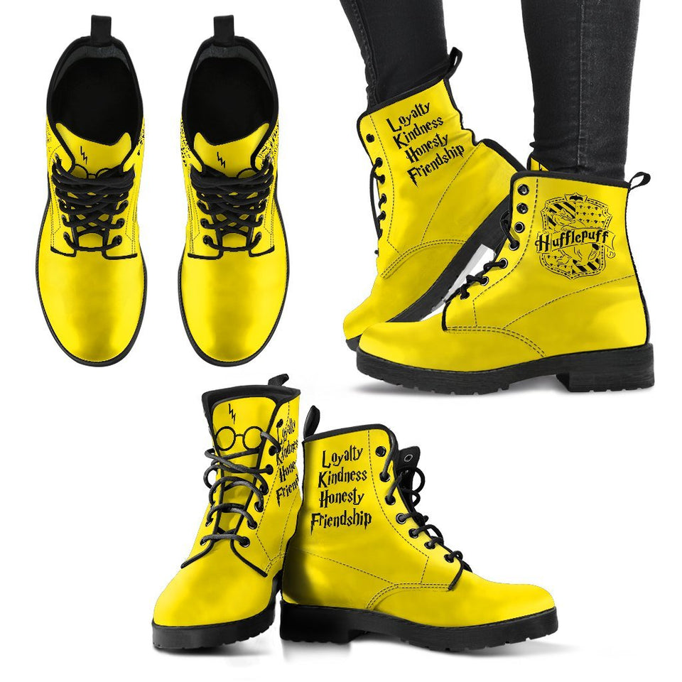 Harry Potter 4 Houses Women's Boots HP0001 - Hufflepuff / US5 (EU35) - Ineffable Shop
