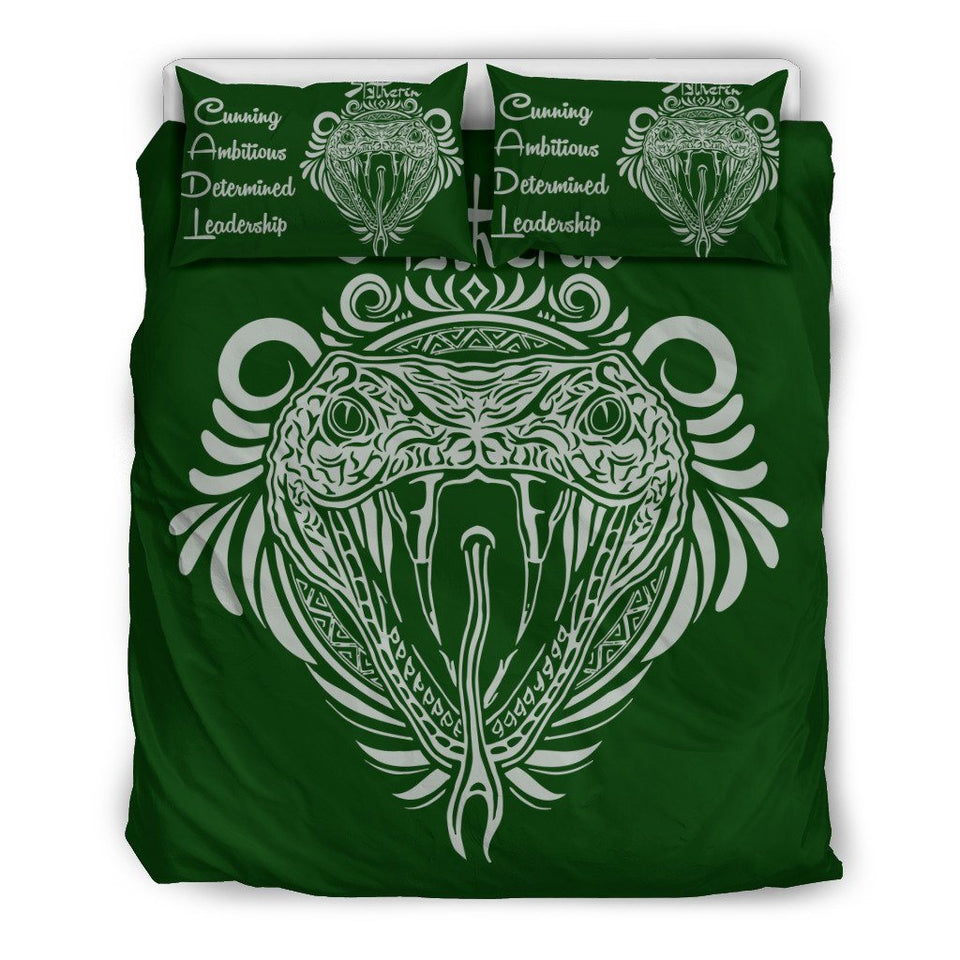 Harry Potter 4 Houses Bedding Set HP0044 - Slytherin - Beige / Twin - Ineffable Shop