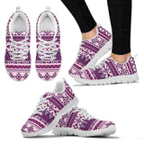 Native American Purple Pattern Women's Sneakers NT069 - Women's Sneakers - White - Native 2 / US5 (EU35) - Ineffable Shop