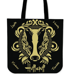 Harry Potter 4 House Tote Bag HP0057 - Hufflepuff - Ineffable Shop