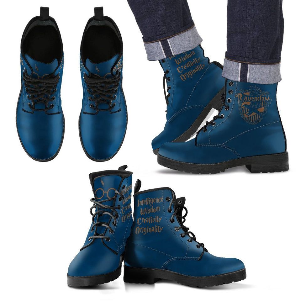Harry Potter 4 Houses Men's Boots HP0002 - Ravenclaw / US5 (EU38) - Ineffable Shop