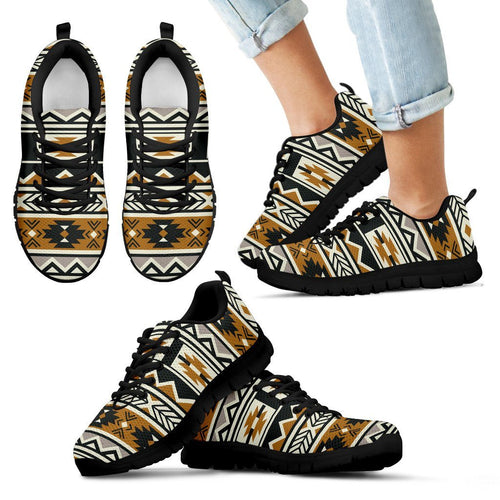 New Native American Pattern Kid's Shoes NT094 - Kid's Sneakers - Black - Native American 1 / 11 CHILD (EU28) - Ineffable Shop