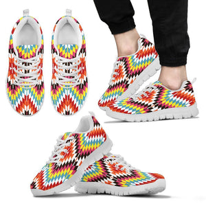 Native American Indian Men's Sneaker Design NT064 - Men's Sneakers - White - Native 2 / US5 (EU38) - Ineffable Shop