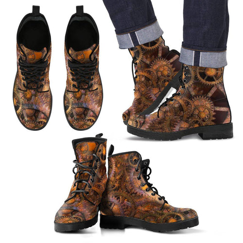 Men's Leather Boots - Steampunk - - Ineffable Shop