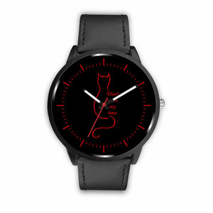 Cat Watches Don't Waste My Time - Mens 40mm / Black - Ineffable Shop