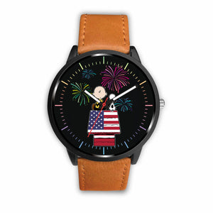 Cute Dog Watches - Mens 40mm / Brown - Ineffable Shop