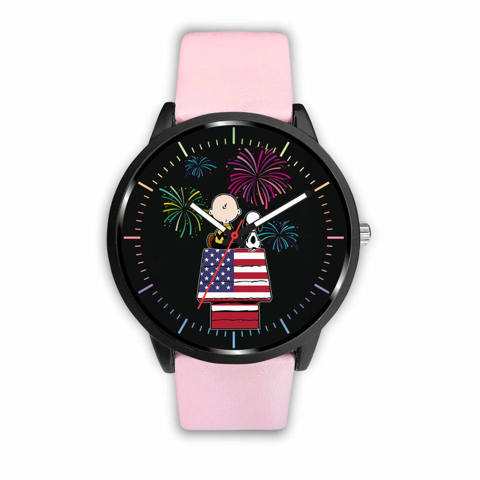 Cute Dog Watches - Mens 40mm / Pink - Ineffable Shop