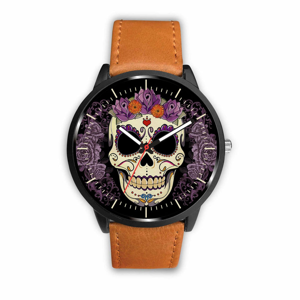 Skull Watches - Mens 40mm / Brown - Ineffable Shop