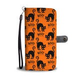 Halloween Black Cat Wallet Case