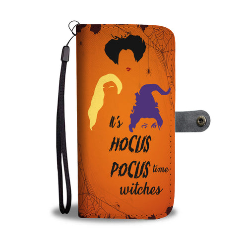 Halloween It's Hocus Pocus Time Witches Wallet Case - Ineffable Shop