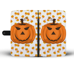 Halloween Pumpkin Wallet Case - - Ineffable Shop