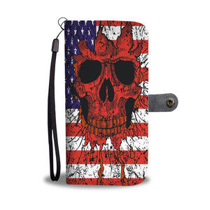 Halloween Skull Flag Wallet Case - - Ineffable Shop