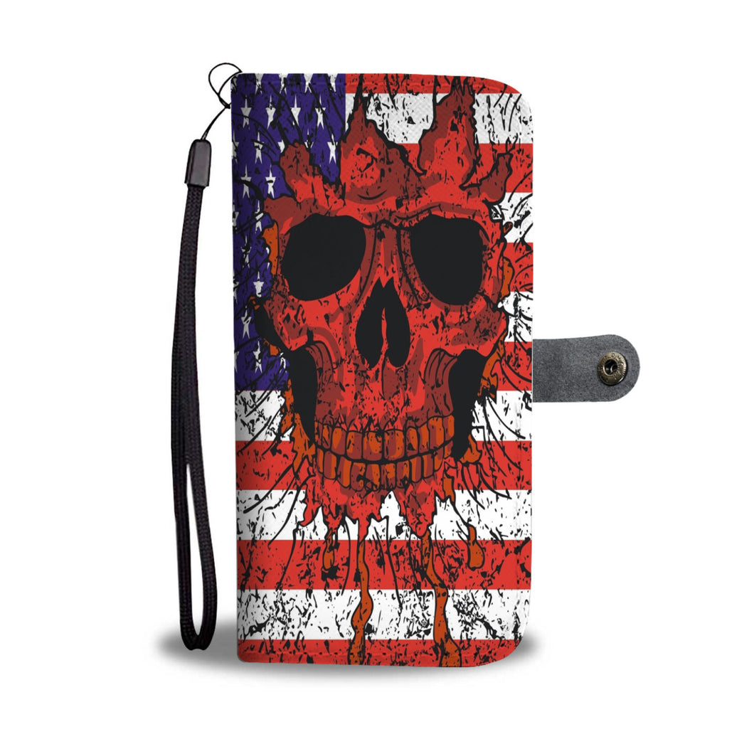 Halloween Skull Flag Wallet Case - Ineffable Shop