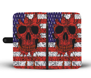 Halloween Skull Flag Wallet Case