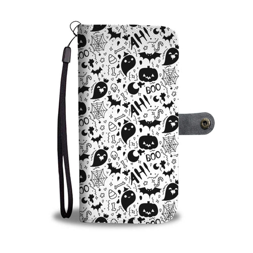 Halloween Ah Boo Wallet Case - - Ineffable Shop